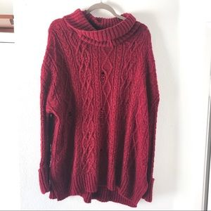 Free People Sweaters - Oversized sweater free people chunky tunic size S